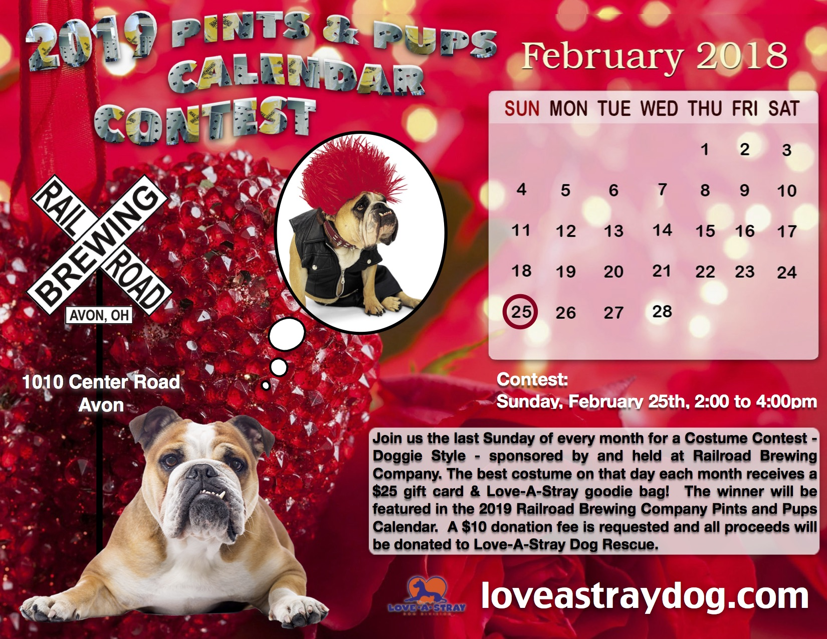 Pints for Pups Calendar Contest - February