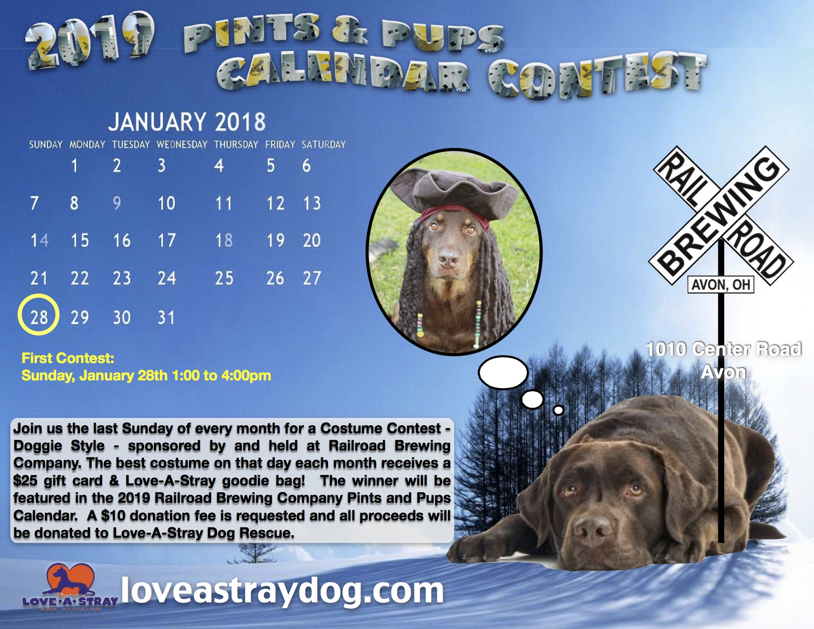 Pints for Pups Calendar Contest - January