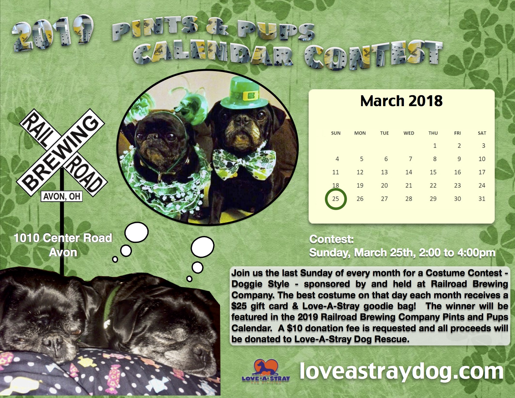 2019 Pints for Pups Calendar Contest - March