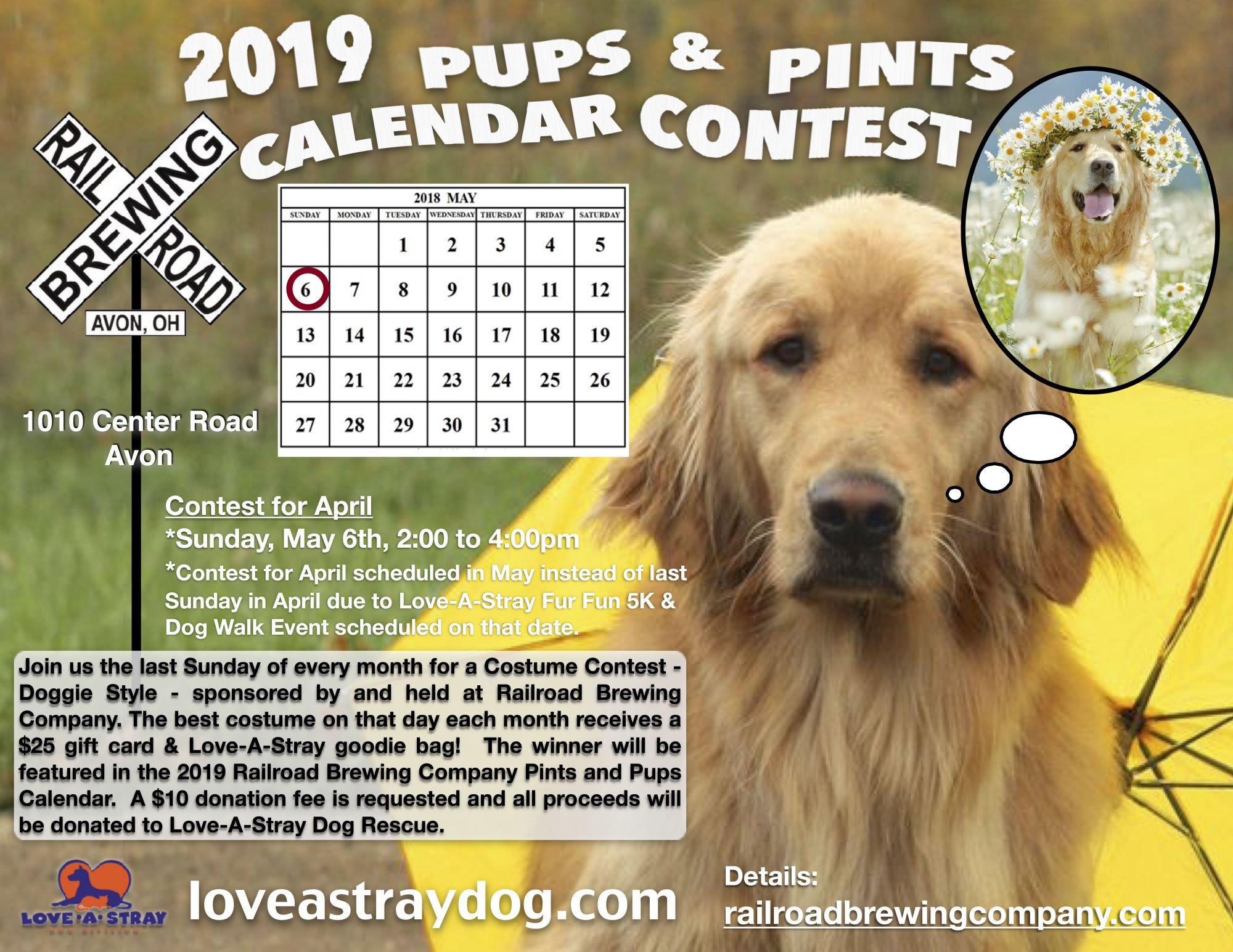 2019 Pups & Pints Calendar Contest - April