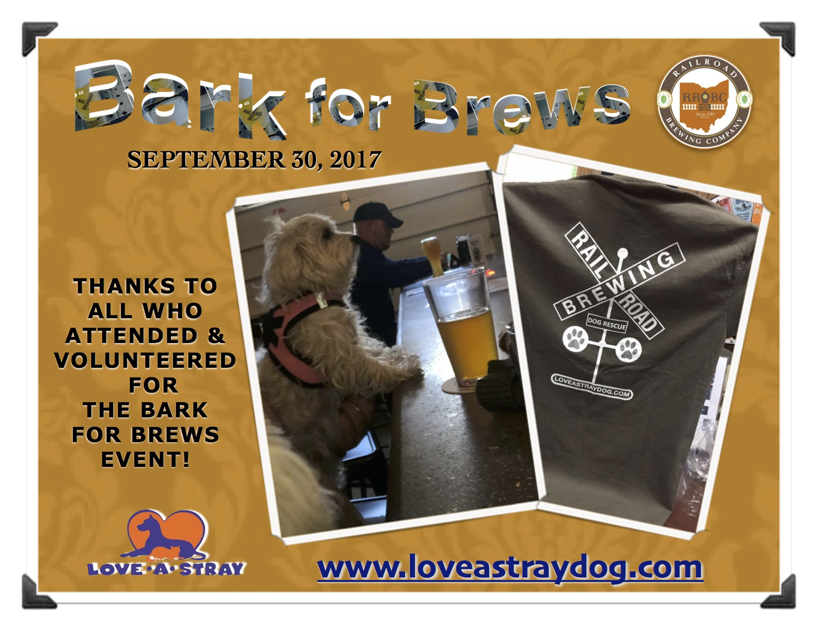 Bark for Brews Thank You
