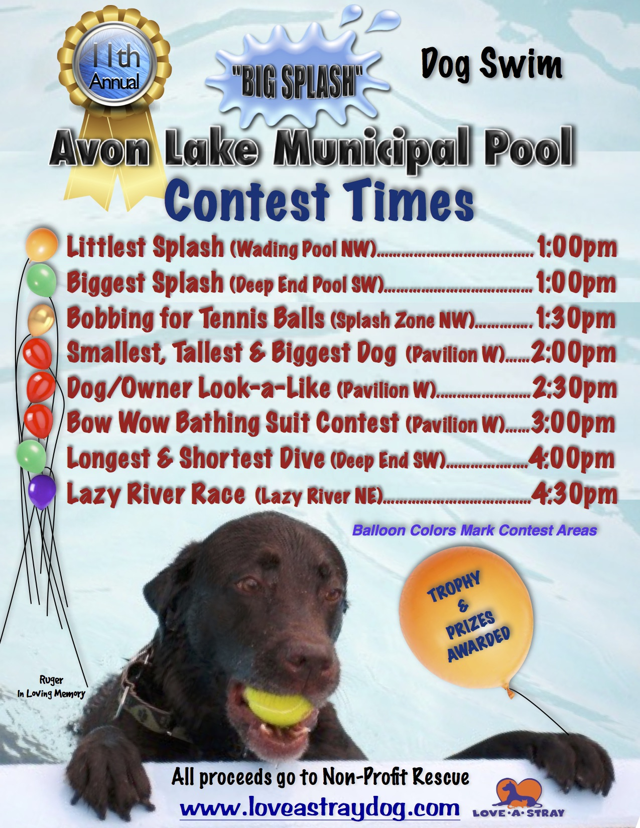 Big Splash Contest Times