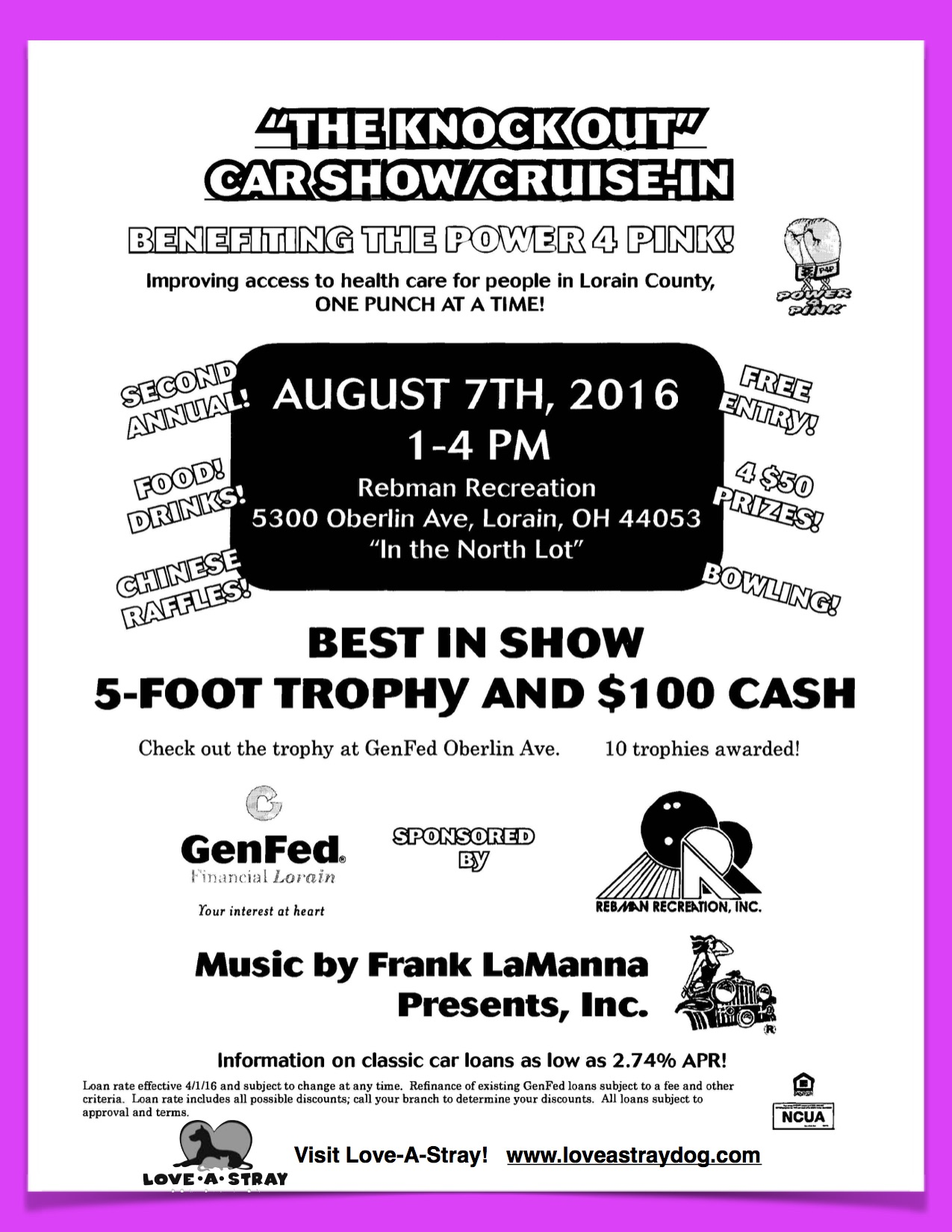 """The Knock Out"" Car Show"